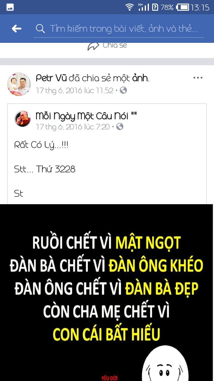 Facebook bố Gào \u2013 Petr Vũ