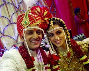 Genelia and Ritesh Marriage Photo