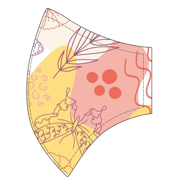 Champion System Reusable Face Mask - Floral Design Right Side