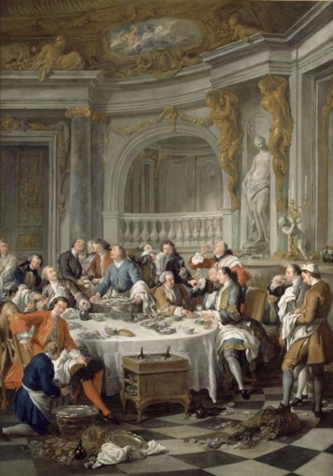 Jean-François de Troy - Diner d'huitres - 1734