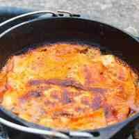 Glamping: Campfire Spinach Lasagna