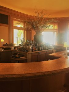 Eileen Callahan of Champagne Travels at Pelican Hill Resort in Newport Beach Califorina at Andrea Bar and Restaurant