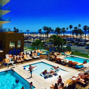 Eileen Callahan in Huntington Beach at the Pasea Hotel with Champagne Travels