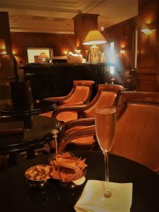 Champagne Travels at the Club bar at the Peninsula Beverly Hills California