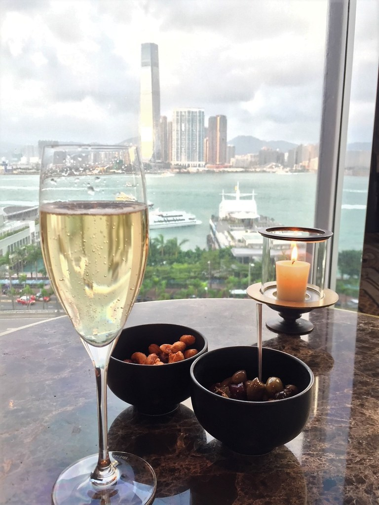 Eileen Callahan of Champagne Travels at the Four Seasons Hong Kong