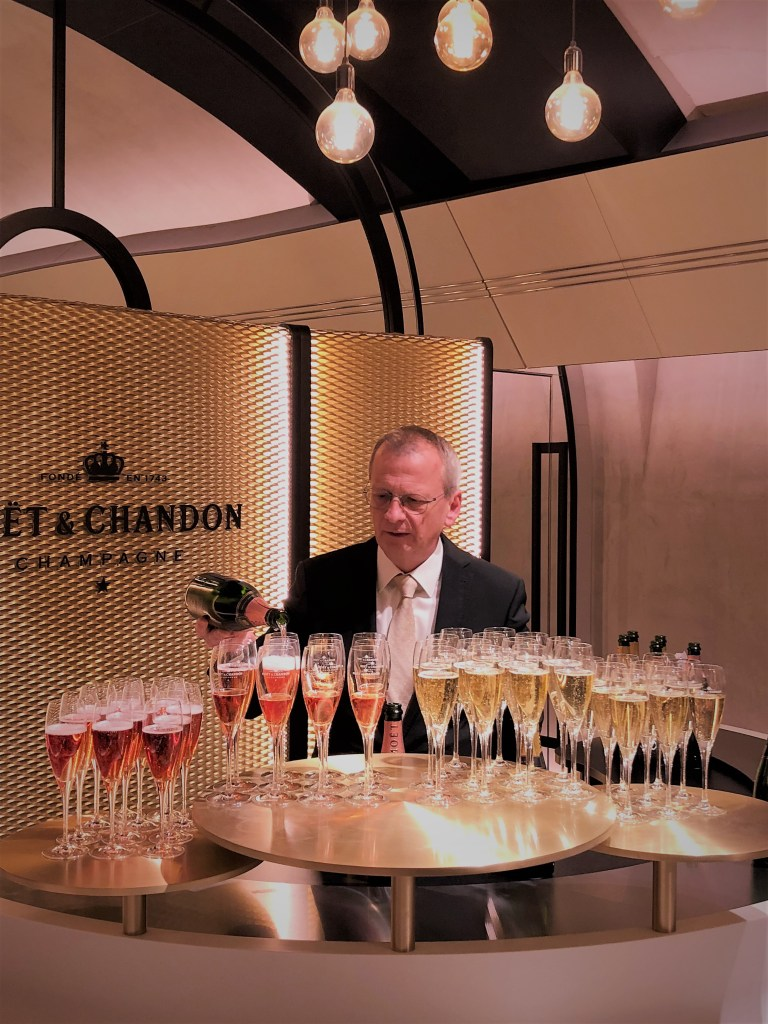 Eileen Callahan Luxury Travel Writer of Champagne Travels visits Moet et Chandon Dom Perignon