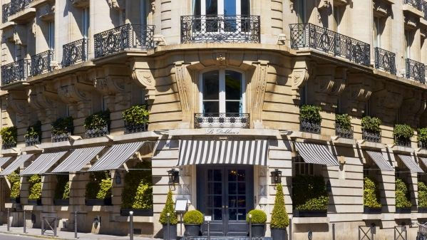 Eileen Callahan of Champagne Travels at Le Dokhan's hotel in Paris France