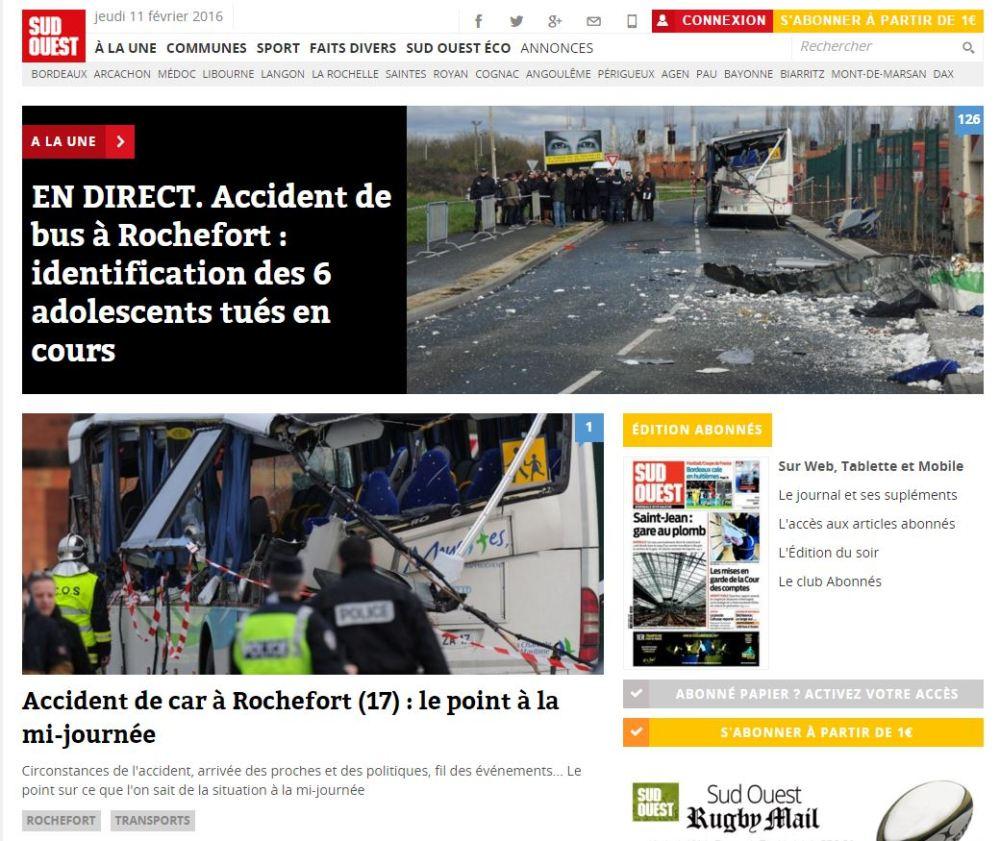 Ecran SO accident bus