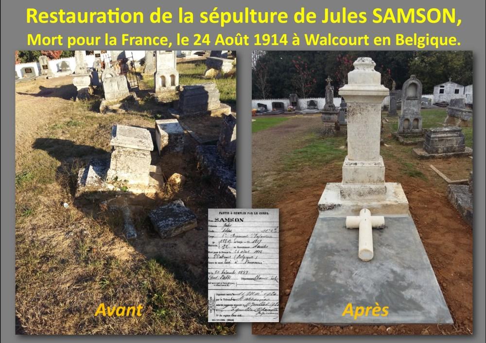 Scépulture Jules Samson