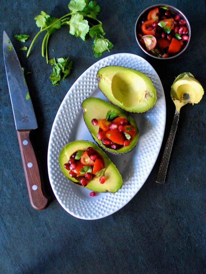 Avocado Guacamole Boats