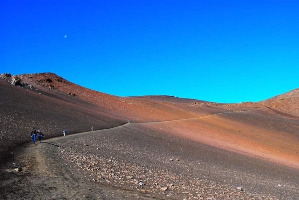 Hiking into the Haleakalā Volcano