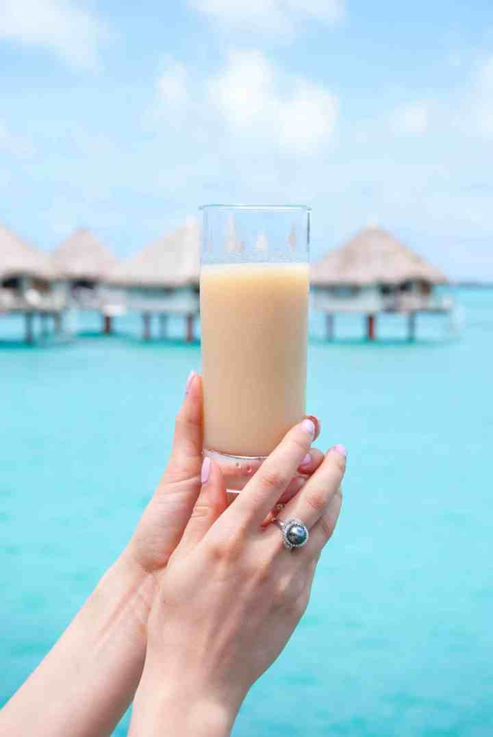 Tahitian Banana Juice in Bora Bora
