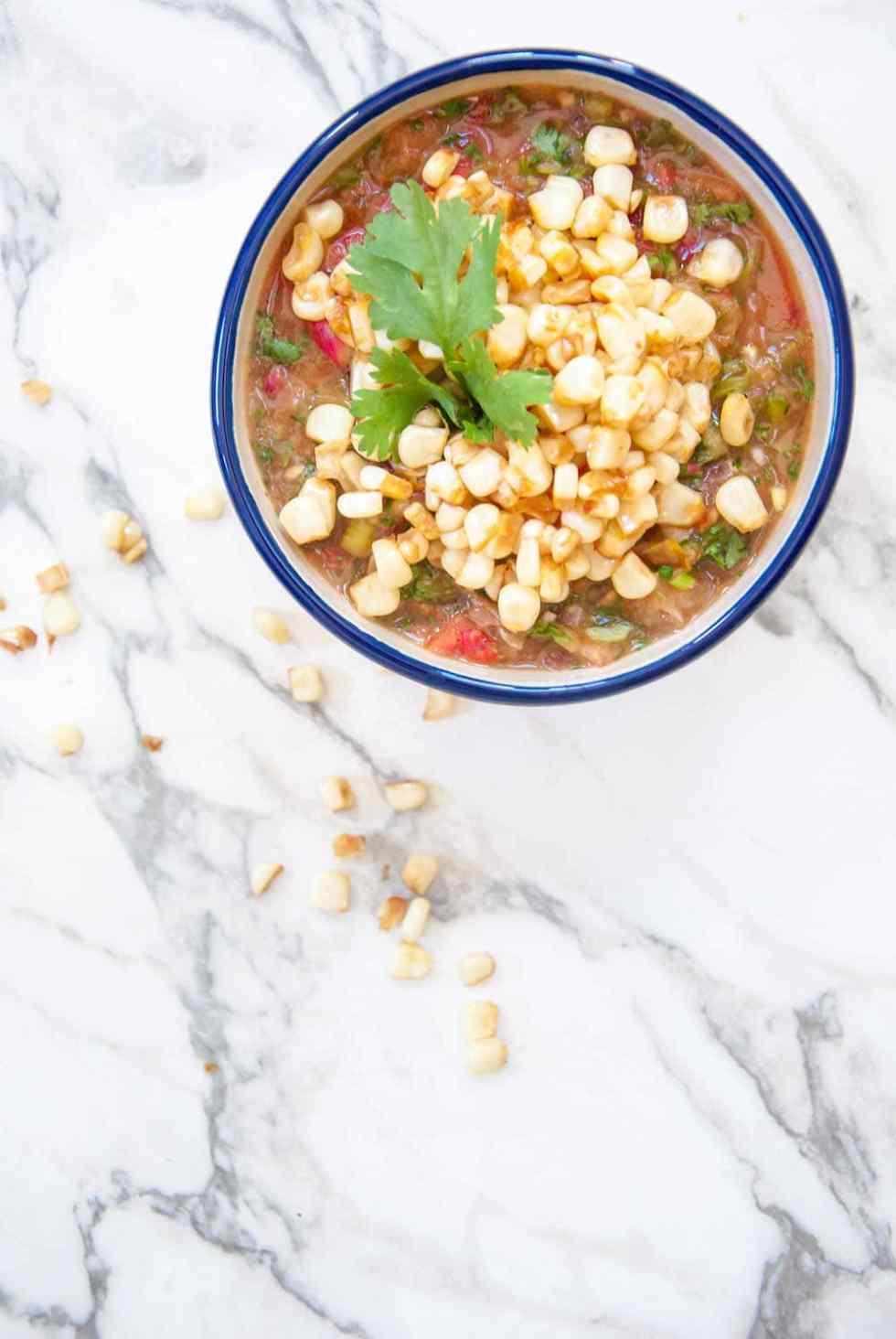 Healthy Pan Roasted Blender Salsa Recipe