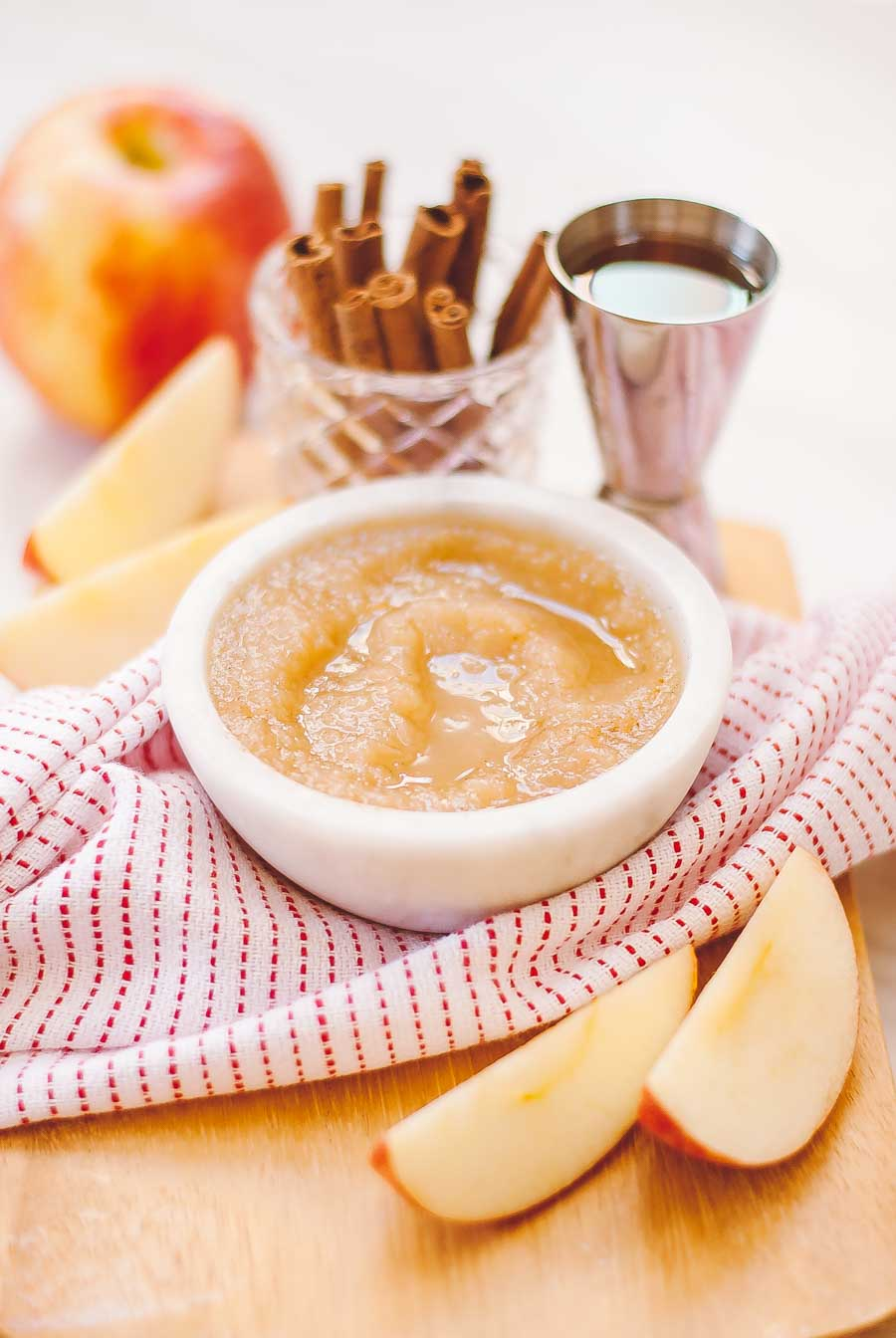 Rustic Bourbon spice applesauce - homemade in under an hour!
