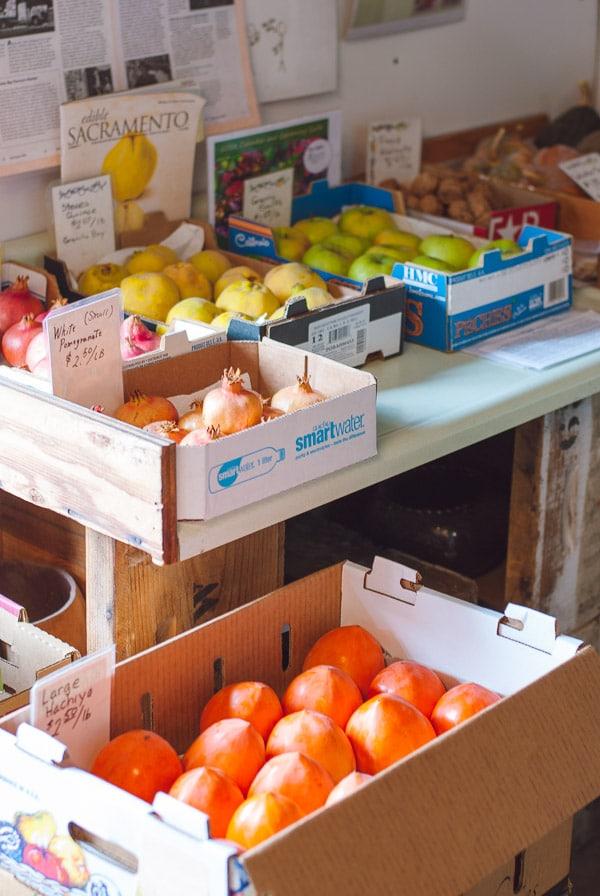 Dried Hoshigaki Persimmons at Otow Orchard, Granite Bay CA