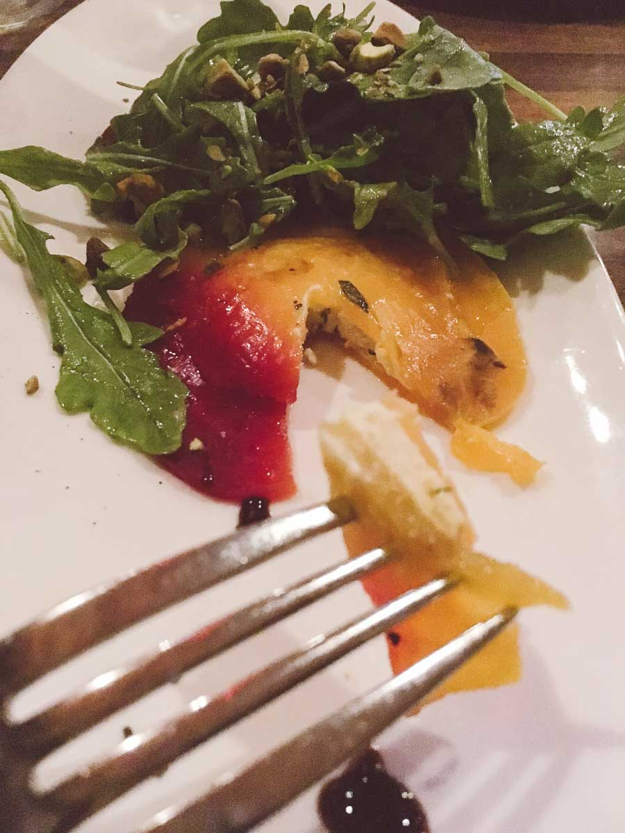 What a dietitian eats in a week - beet ravioli salad