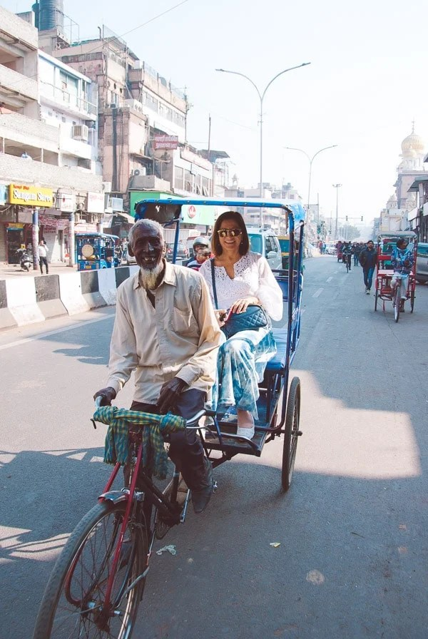 Rickshaw Ride Through Old Delhi, India