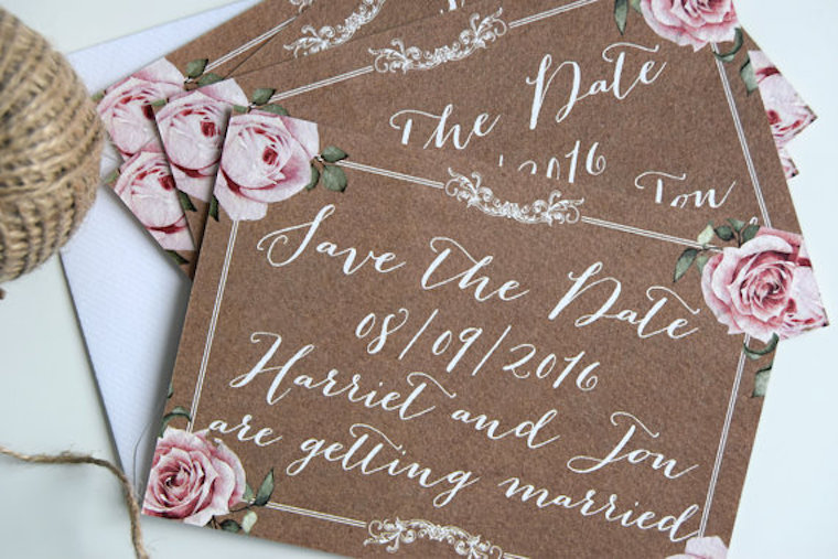 Save the date cards for Weddings Champagne and Petals – Save the Date Cards for Weddings