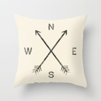 Compass Throw Pillow Cover