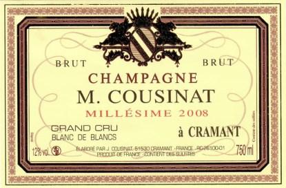 Michel Cousinat Grand Cru 2008