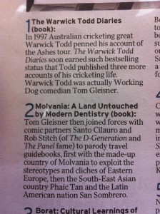Top 10 mockumentary lists - Courier Mail 24/10/11