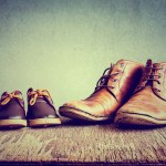 man and child shoes