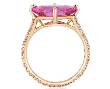 BAYCO - PINK SAPPHIRE & DIAMOND RING