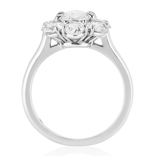 BAYCO - ROSE-CUT DIAMOND CLUSTER RING