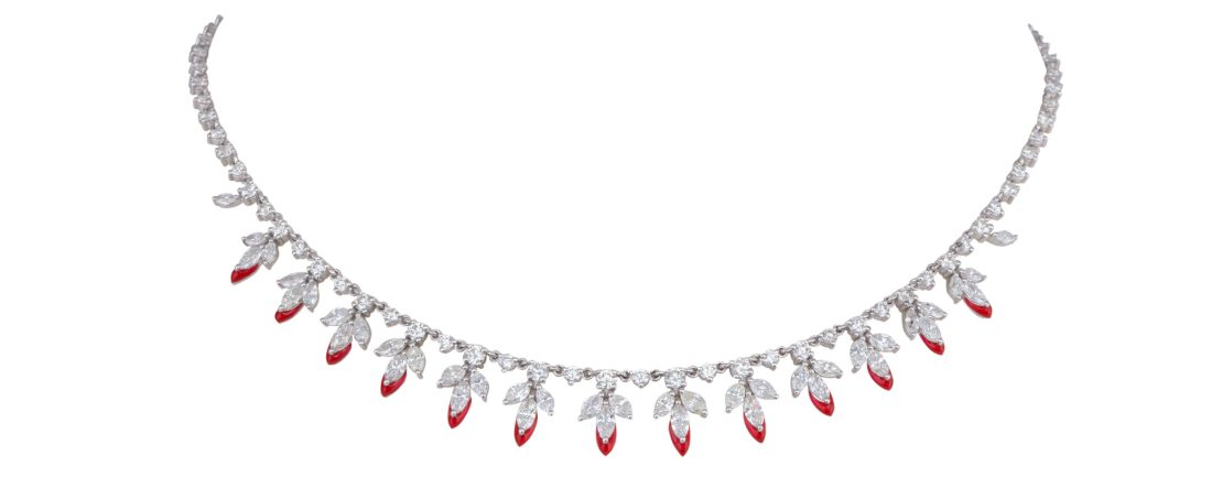 KAMYEN JEWELLERY - THE LEAF CHOKER (P-G78)