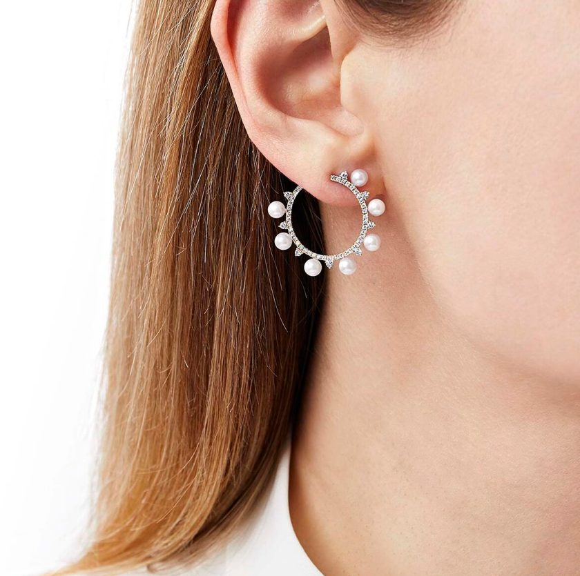 "YOKO LONDON - ""SLEEK"" EARRINGS QYE2210-6x"
