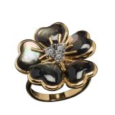 VESCHETTI JEWELS - PETITES FLEURS IN BLACK MOTHER OF PEARL
