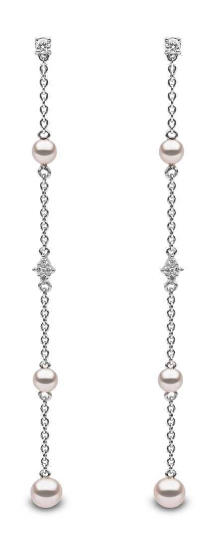 "YOKO LONDON - ""TREND"" FRESHWATER PEARL AND DIAMOND EARRINGS QYE2045-7F"