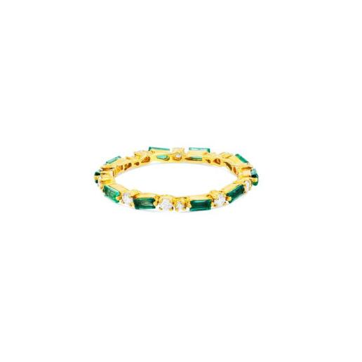 Option 3 SUZANNE KALAN THIN MIX ETERNITY BAND - EMERALD