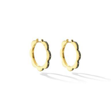 CADAR - TRIPLET HOOP DIAMOND EARRINGS, MEDIUM