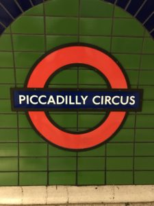 London Tube, Piccadilly Circus