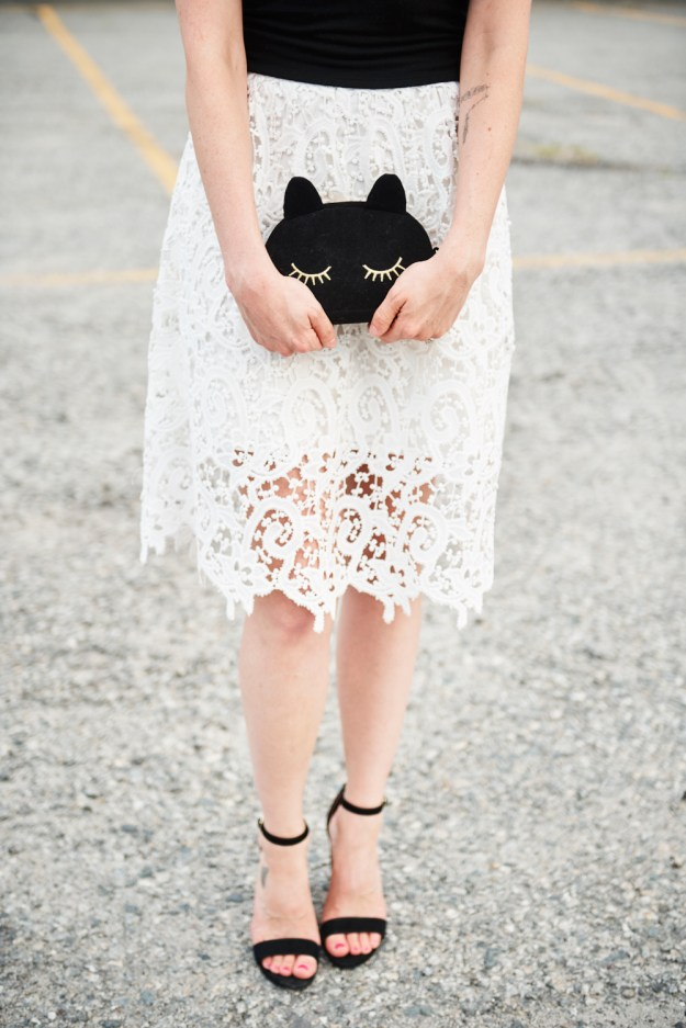 black and white lace champagne thursday jess levy boston style fashion beauty blogger