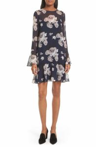 Theory Marah Floral Chiffon Dress nordstrom anniversary sale 2017