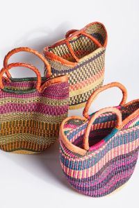 basket bags tulum colorful style
