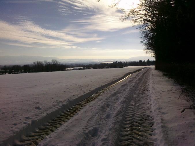 Frozen running track in the Jura Photo: PK Read