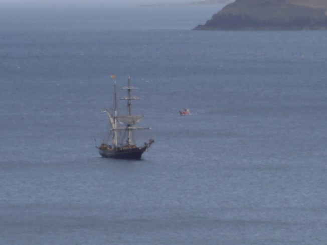 Sail power on the Cornish coast Photo: PK Read