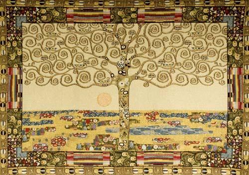 Gustav Klimt Tree of Life tapestry Source: The Tapestry House