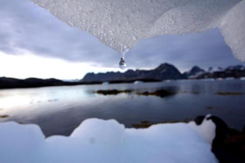 An iceberg melts in Greenland. Photo: John McConnico/AP
