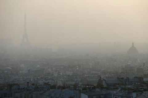A few hours north of where I live in France, but the haze looks about the same. Photo: AFP