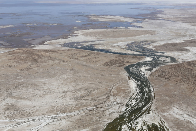 The Colorado River meets the delta and flows into the Gulf of California (15 May 2014) Photo: Francisco Zamora/Sonoran Institute