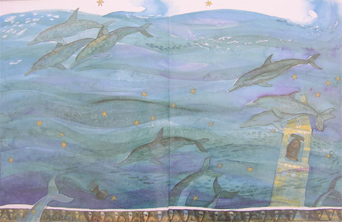 From an illustrated children's book, Cantre'r Gwaewold. Artist: Sian Lewis