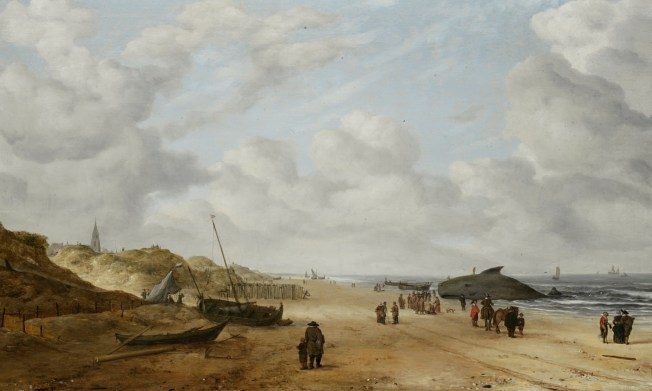 View of Scheveningen Sands (1641) Artist: Hendrick van Anthonissen via The History Blog