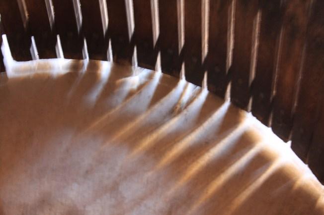 Inside the empty pressing vat. Photo: PK Read