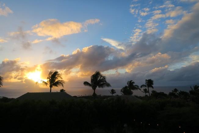 Sunset off the coast of Wailea, Maui.