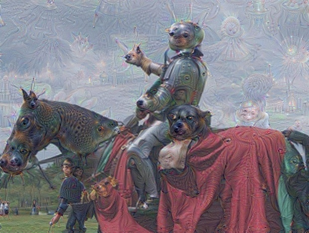 An ANN result of a picture of a knight after an search for animal images.