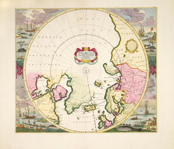 1715 map by Dutch cartographer Frederick de Wit. Source: Canadian Geographic